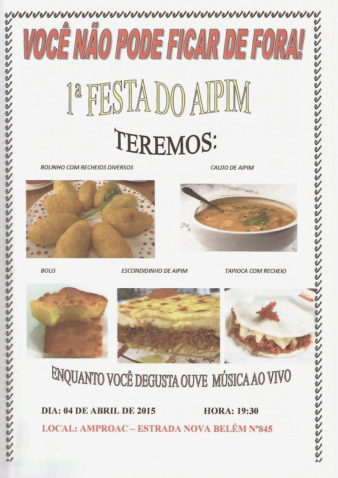 1ª FESTA DO AIPIM DE SÃO FRANCISCO DE ITABAPOANA