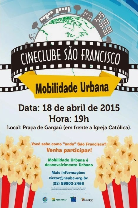 CULTURA – Cineclube São Francisco, desembarca na localidade de Gargaú neste sábado