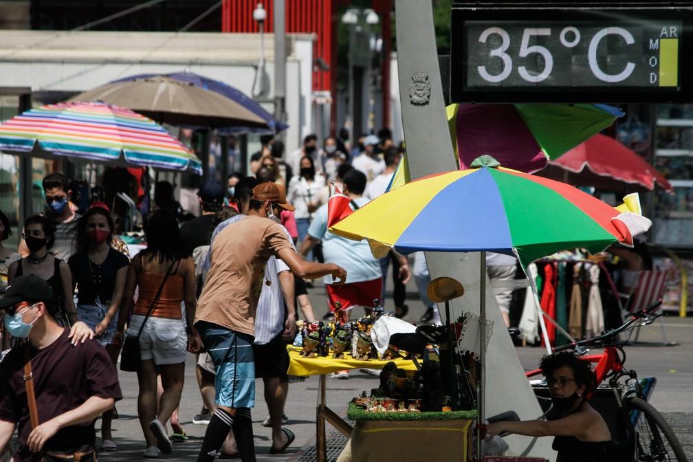 Onda de calor mantém temperatura alta pelo país