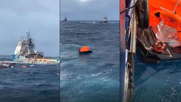 Rebocador afunda na Bacia de Campos, RJ, e 18 tripulantes são resgatados com vida