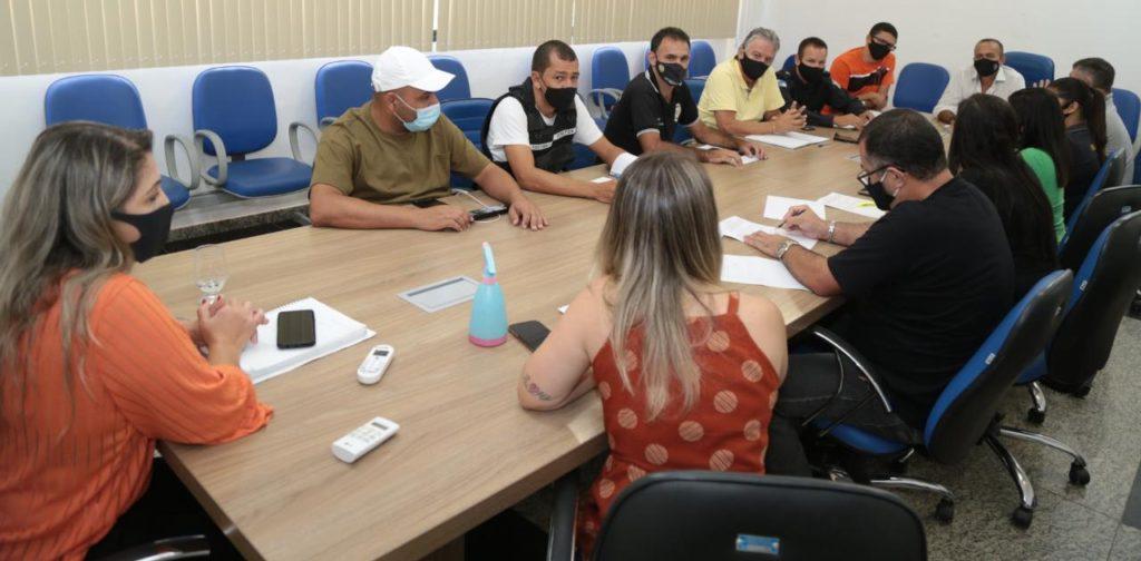 Prefeitura e PM reunidas para definir ações de fiscalização das medidas de combate a Covid-19