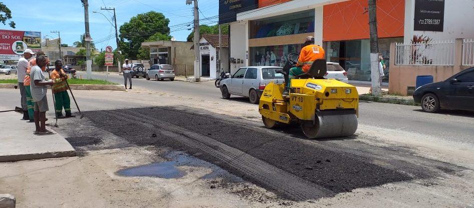 DER realiza Operação Tapa-Buracos nas rodovias da região atendendo solicitação da prefeitura