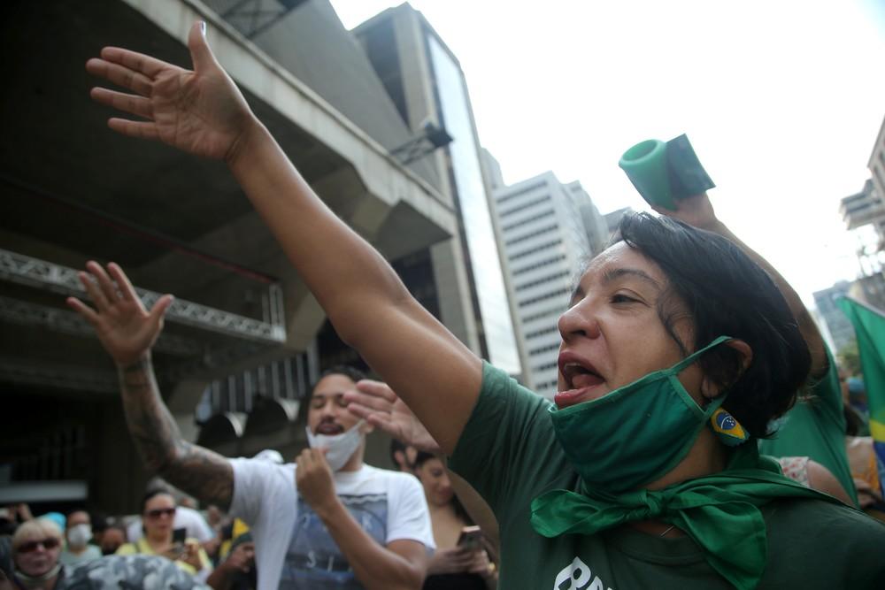 Cidades registram manifestações pró-Bolsonaro e contra medidas de restrição à Covid-19