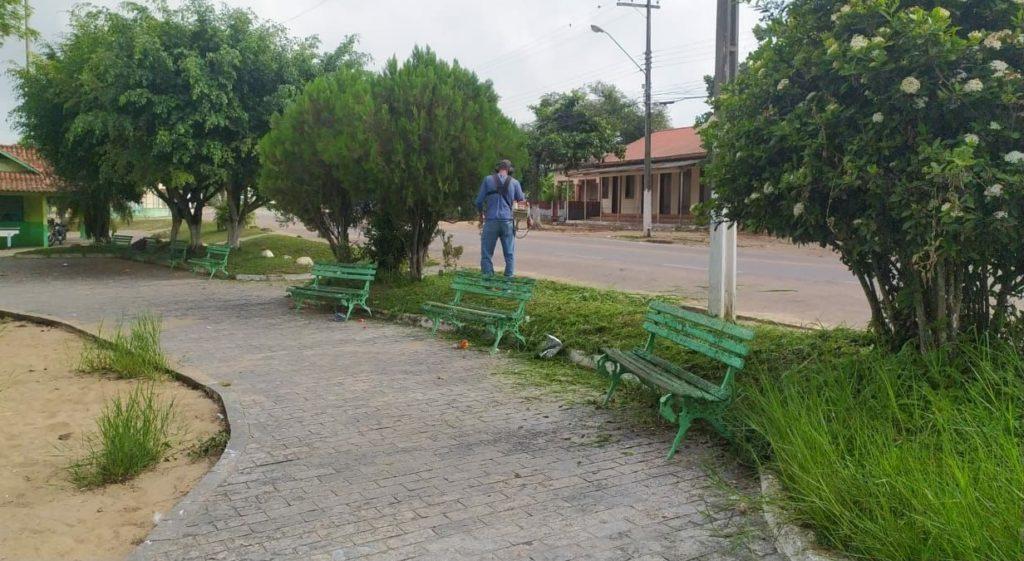 Ponto de Cacimbas recebe serviços de manutenção nas vias públicas