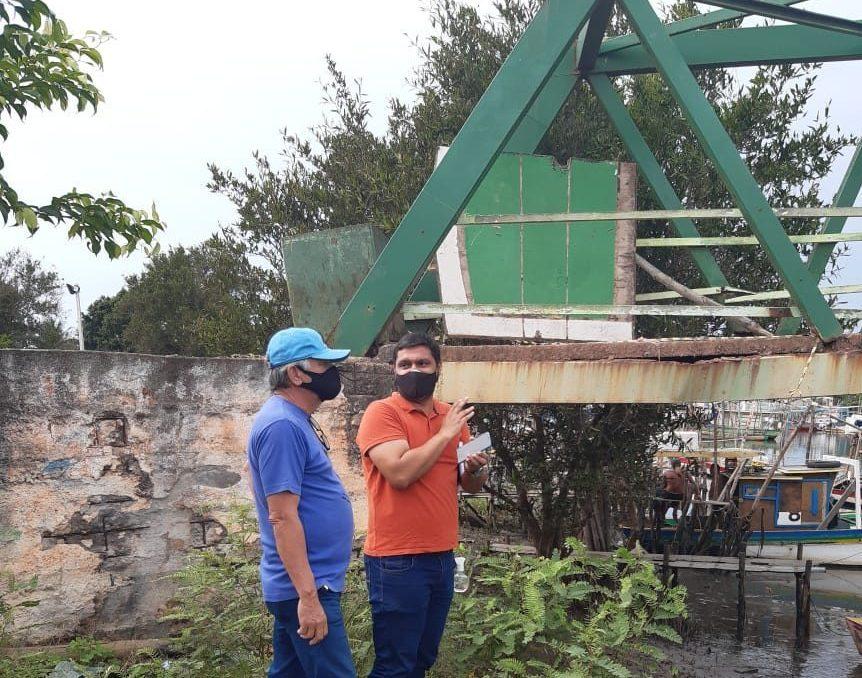 Após inspeção técnica, passarela de Gargaú é interditada