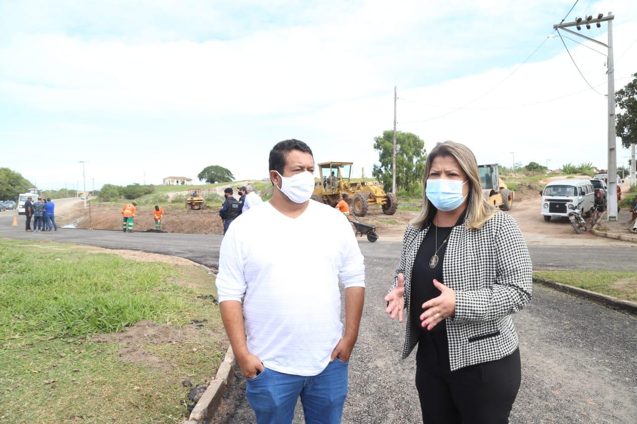 Parceria Prefeitura/DER conclui 1ª etapa das obras no trevo de Barra do Itabapoana