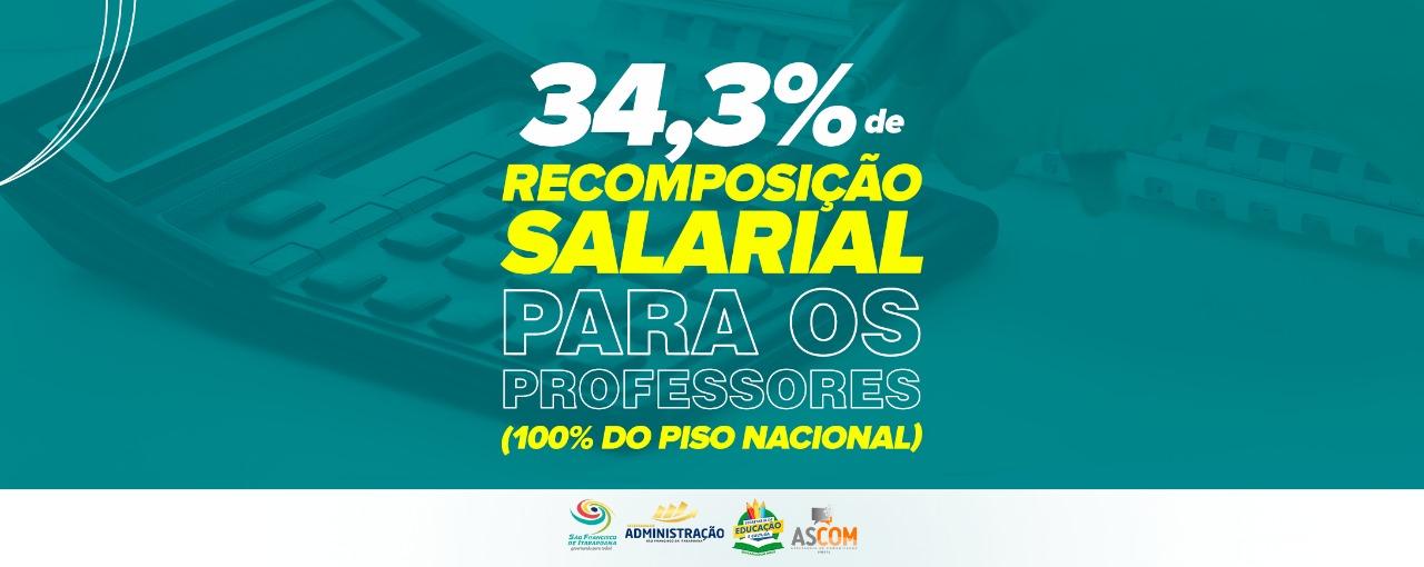 Francimara anuncia recomposição salarial de 34,3% e profissionais da Educação atingem 100% do piso nacional