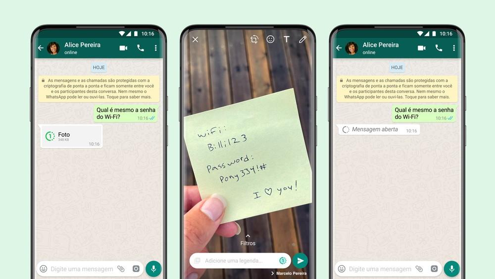 WhatsApp ganha opção para enviar fotos e vídeos que só podem ser visualizados uma vez