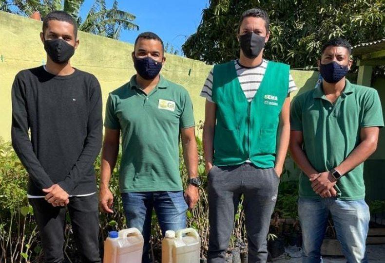 """""""Óleo Legal"""": recebe mais 74 litros de óleo de cozinha usado"""